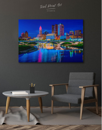 Night Bicentennial Park Syndey Scenic View Canvas Wall Art - image 6