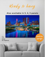 Night Bicentennial Park Syndey Scenic View Canvas Wall Art - Image 7