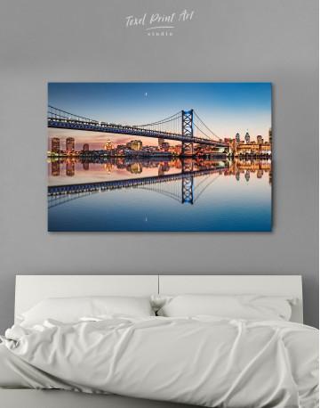 Benjamin Franklin Bridge Philadelphia Cityscape Canvas Wall Art