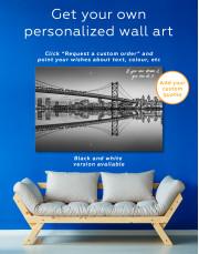 Benjamin Franklin Bridge Philadelphia Cityscape Canvas Wall Art - Image 8
