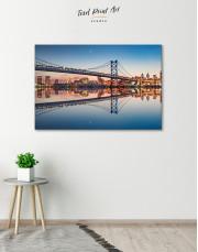 Benjamin Franklin Bridge Philadelphia Cityscape Canvas Wall Art - Image 7