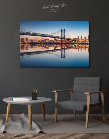 Benjamin Franklin Bridge Philadelphia Cityscape Canvas Wall Art - image 5