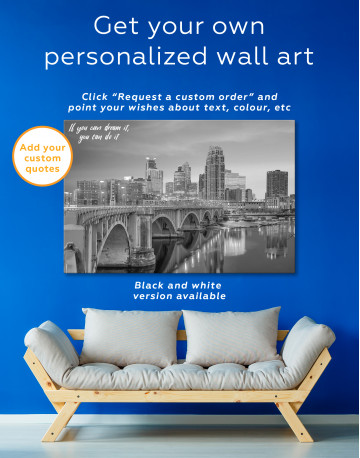 Downtown Minneapolis Cityscape Canvas Wall Art - image 1