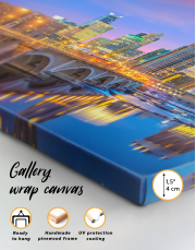 Downtown Minneapolis Cityscape Canvas Wall Art - Image 9