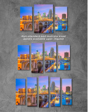 Downtown Minneapolis Cityscape Canvas Wall Art - Image 5