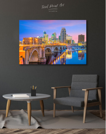 Downtown Minneapolis Cityscape Canvas Wall Art - image 4