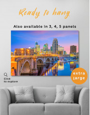 Downtown Minneapolis Cityscape Canvas Wall Art - Image 7