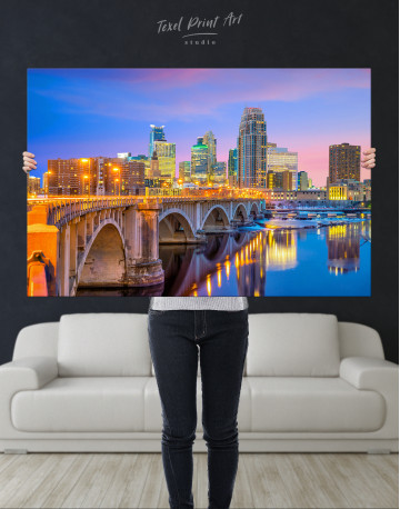 Downtown Minneapolis Cityscape Canvas Wall Art - image 2