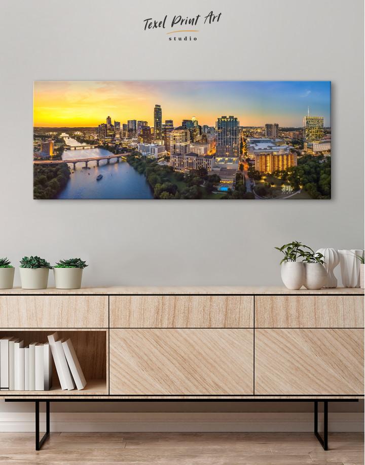 Panoramic Austin Skyline Canvas Wall Art - Image 3