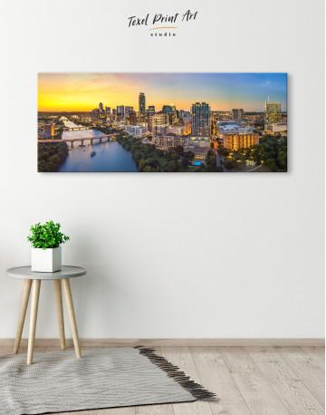 Panoramic Austin Skyline Canvas Wall Art - image 2