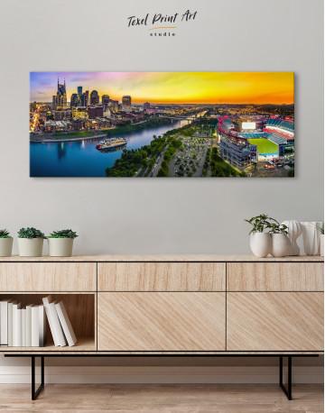 Panoramic Nashville Skyline Canvas Wall Art - image 2
