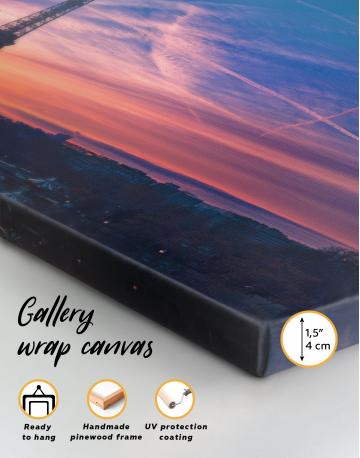 Panoramic Eiffel Tower Sunset Skyline Canvas Wall Art - image 4