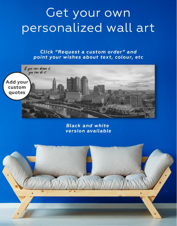 Panoramic Columbus Skyline Canvas Wall Art - Image 4