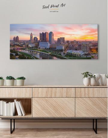 Panoramic Columbus Skyline Canvas Wall Art - image 3