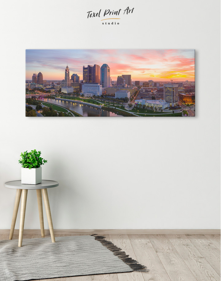 Panoramic Columbus Skyline Canvas Wall Art - Image 2