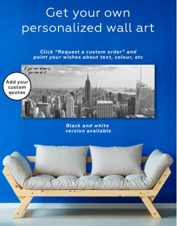 Panoramic New York City Skyline Canvas Wall Art - image 3