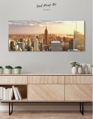 Panoramic New York City Skyline Canvas Wall Art - image 2