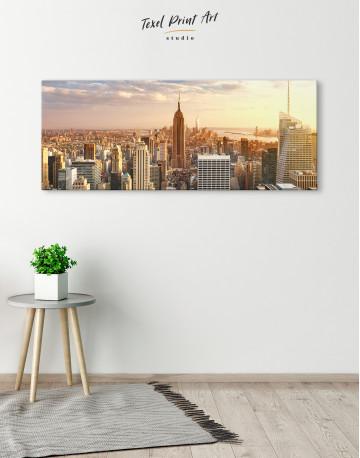 Panoramic New York City Skyline Canvas Wall Art - image 1