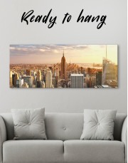 Panoramic New York City Skyline Canvas Wall Art