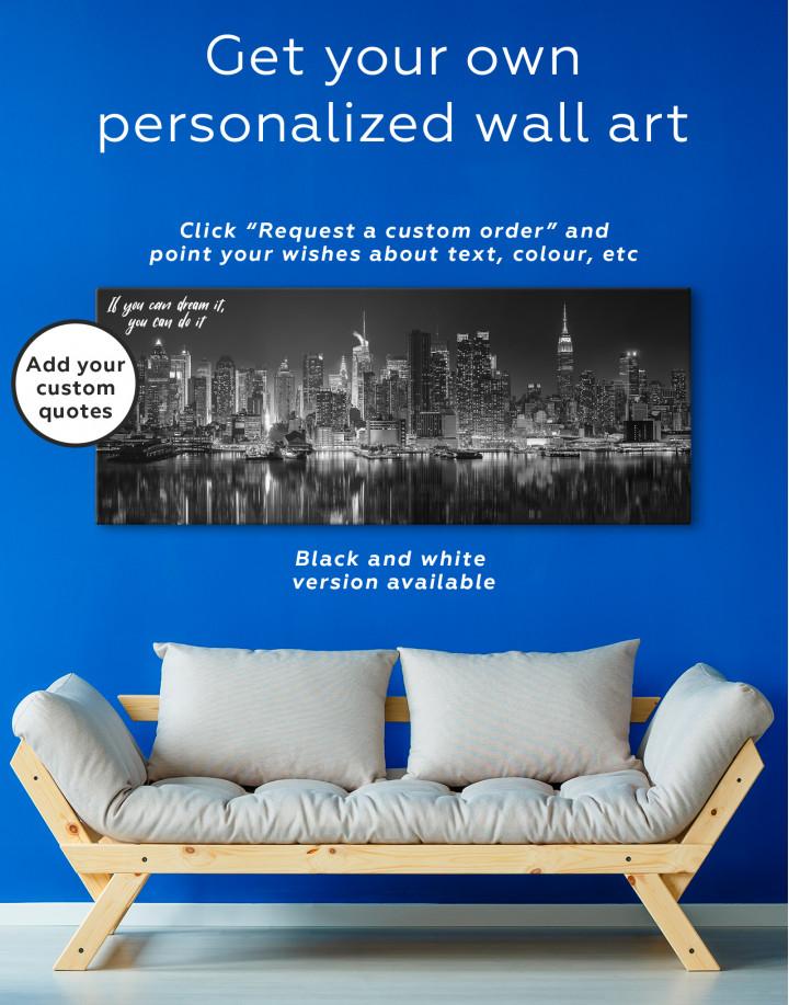 Panorama Manhattan Cityscape View Canvas Wall Art - Image 2