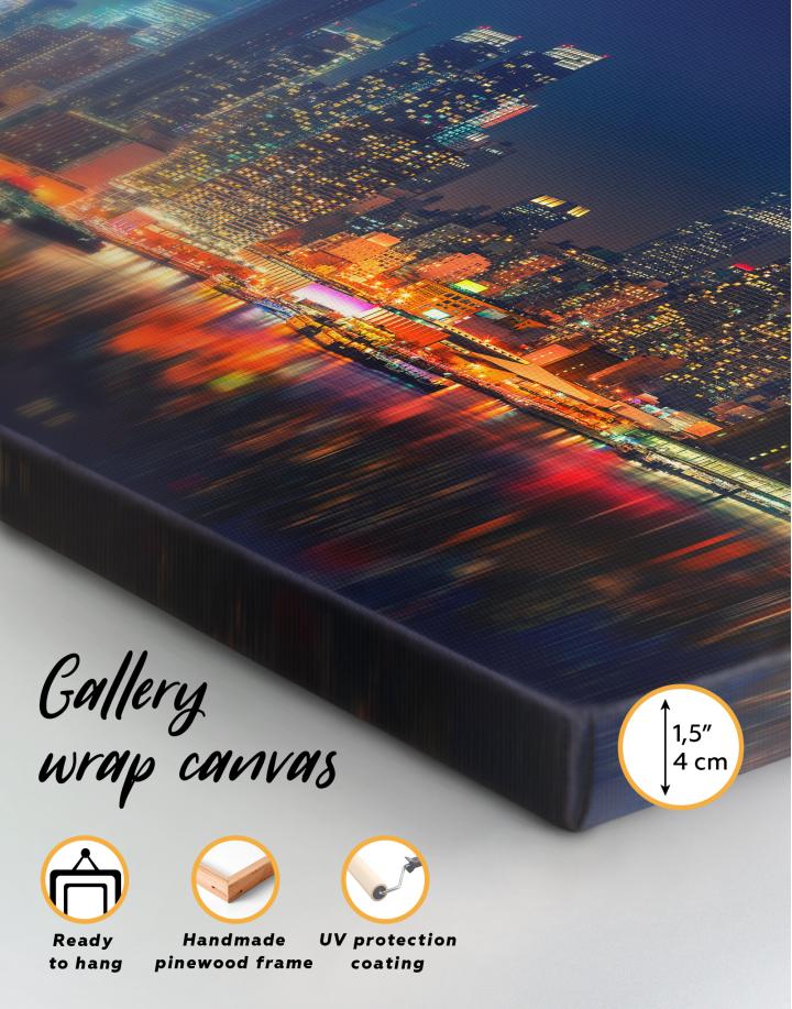 Panorama Manhattan Cityscape View Canvas Wall Art - Image 3