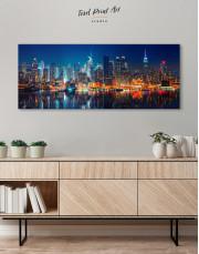 Panorama Manhattan Cityscape View Canvas Wall Art - Image 1