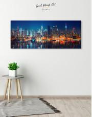 Panorama Manhattan Cityscape View Canvas Wall Art - Image 4