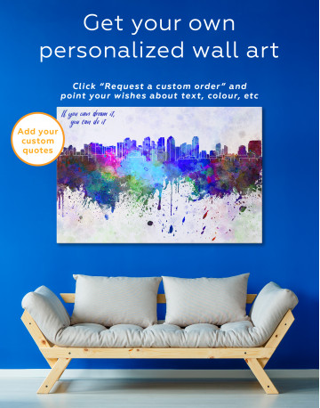 Multicolor Abstract City Silhouette Canvas Wall Art - image 4
