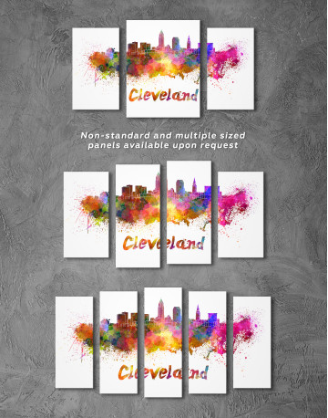 Multicolor Cleveland Silhouette Canvas Wall Art - image 4