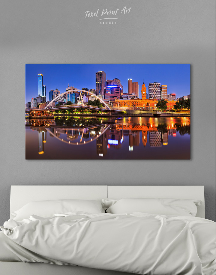 Cityscape Melbourne Australia Canvas Wall Art