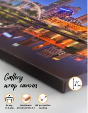 Cityscape Melbourne Australia Canvas Wall Art - Image 1