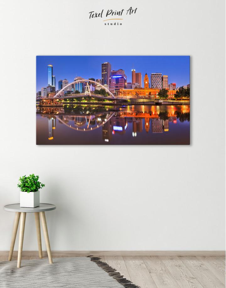 Cityscape Melbourne Australia Canvas Wall Art - Image 3