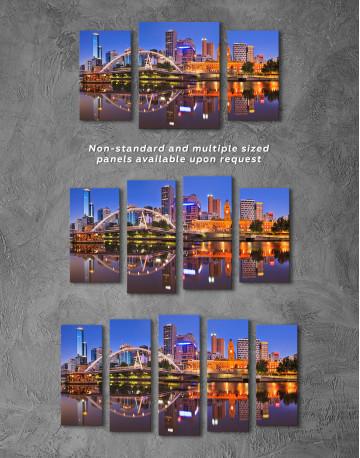 Cityscape Melbourne Australia Canvas Wall Art - image 4