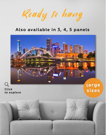 Cityscape Melbourne Australia Canvas Wall Art - image 8