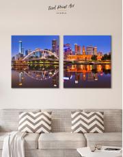 Cityscape Melbourne Australia Canvas Wall Art - Image 6