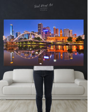 Cityscape Melbourne Australia Canvas Wall Art - Image 2