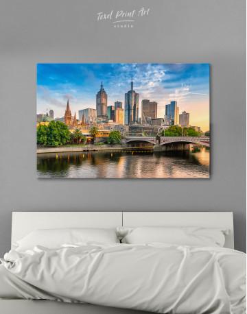 Fawkner Park Melbourne Skyline Canvas Wall Art
