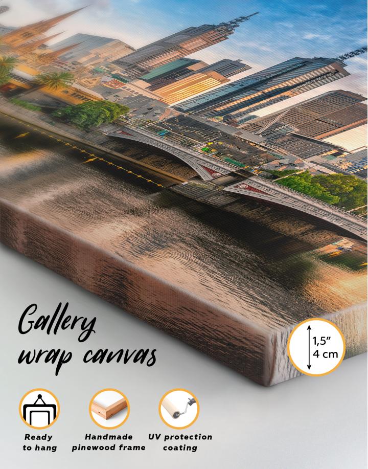 Fawkner Park Melbourne Skyline Canvas Wall Art - Image 9