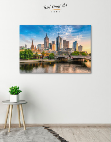 Fawkner Park Melbourne Skyline Canvas Wall Art - image 5