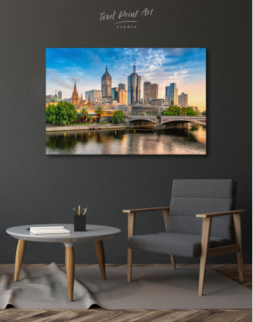 Fawkner Park Melbourne Skyline Canvas Wall Art - image 4