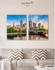 Fawkner Park Melbourne Skyline Canvas Wall Art - Image 3