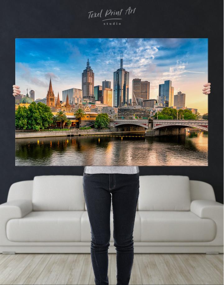 Fawkner Park Melbourne Skyline Canvas Wall Art - Image 8