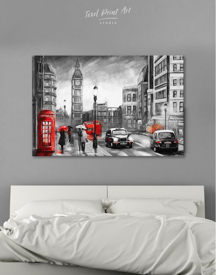 London`s Street Painting Canvas Wall Art