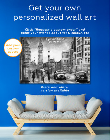 London`s Street Painting Canvas Wall Art - image 2