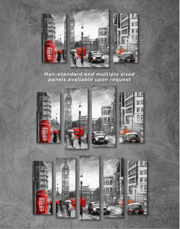 London`s Street Painting Canvas Wall Art - image 4