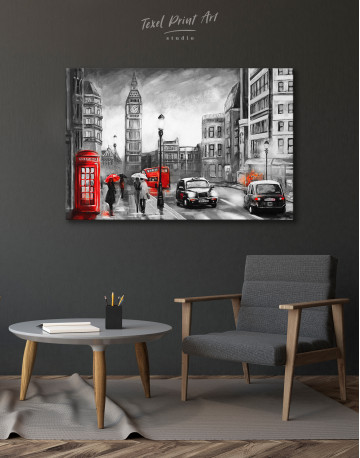 London`s Street Painting Canvas Wall Art - image 5
