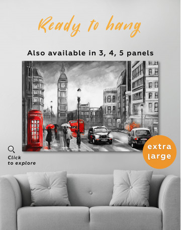 London`s Street Painting Canvas Wall Art - image 6