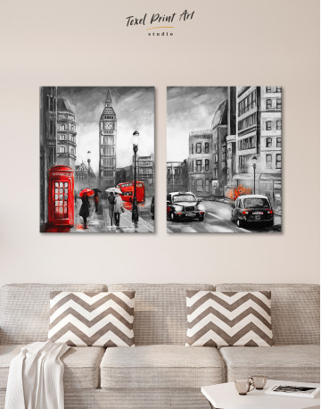 London`s Street Painting Canvas Wall Art - image 9