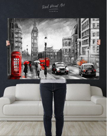 London`s Street Painting Canvas Wall Art - image 8