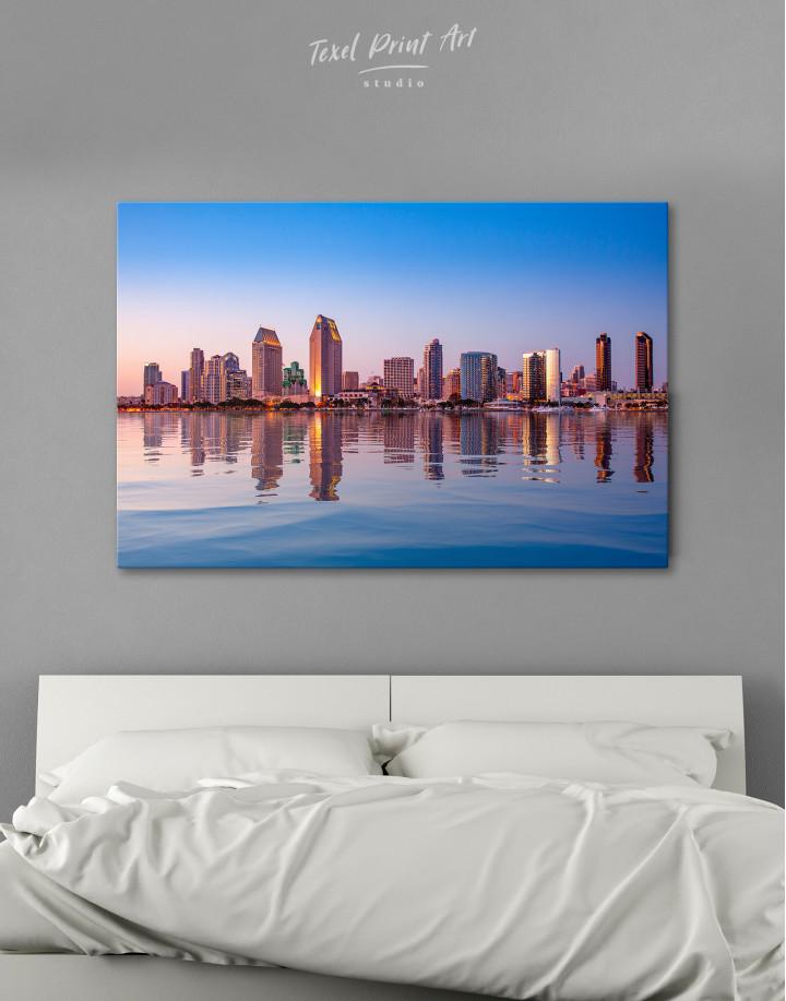 San Diego Skyline Canvas Wall Art
